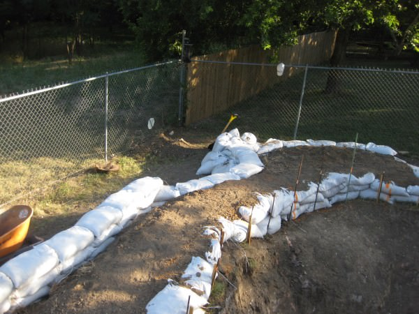 11 - Finish retention wall for pool leveling on sloped yard