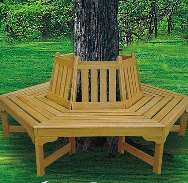 Brookstone-hexagonal-tree-bench