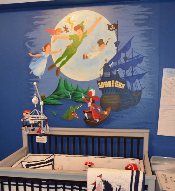 Peter-pan-wall-mural-for-contemporary-nusery