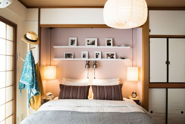 Picture-ledge-and-smart-lighting-for-the-small-bedroom