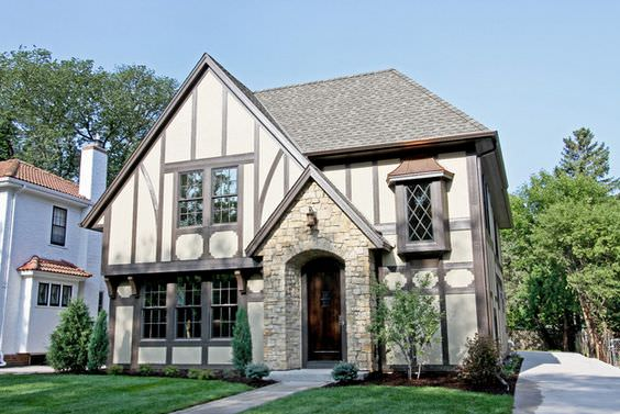 Tudor-style-house-with-large-Windows