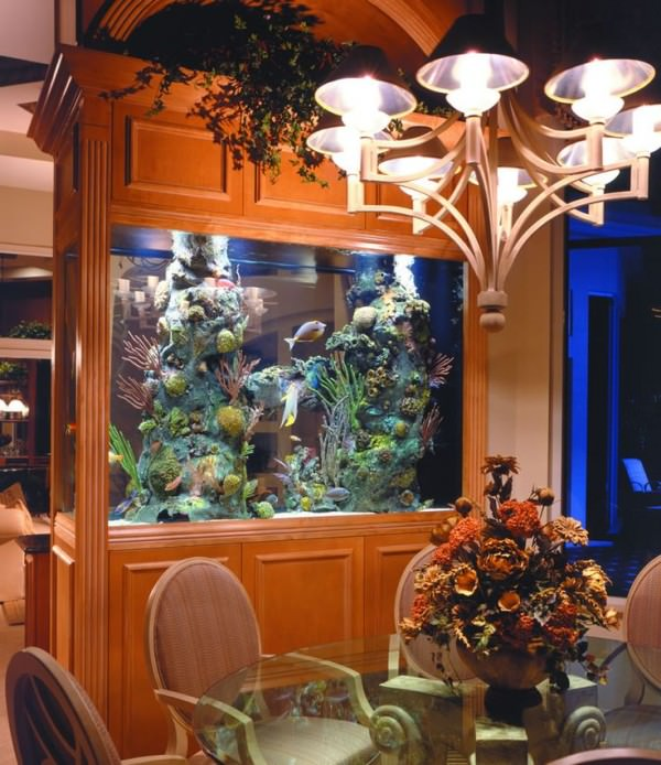 Aquarium-used-to-separate-dining-room-from-living-room