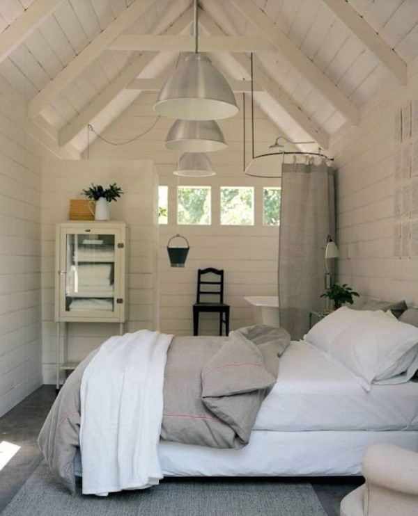 Bedroom-and-bathroom-in-an-attic