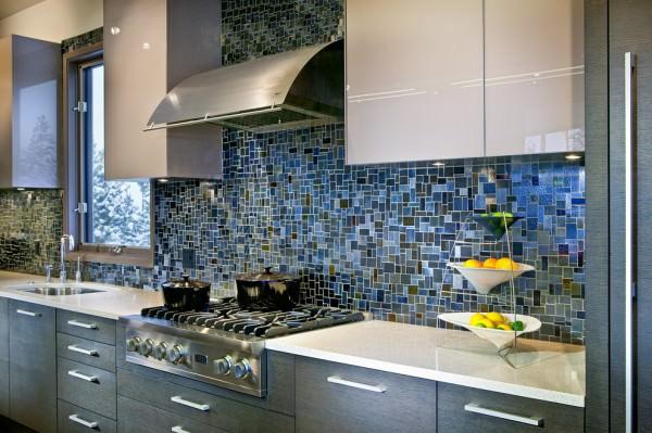 Dark-blue-mosaic-tile-kitchen-backsplash