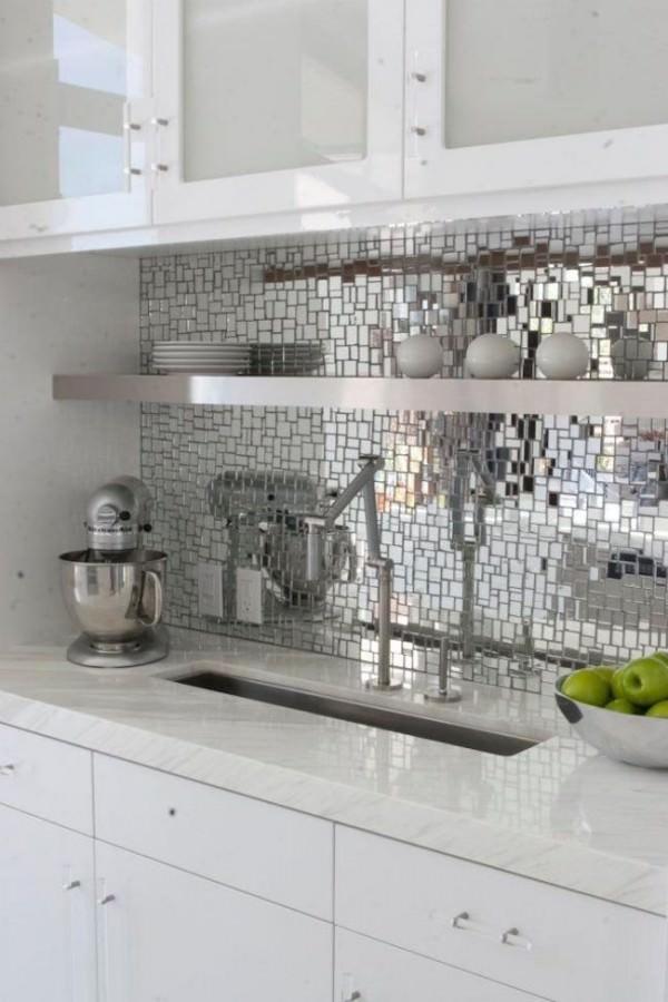 Disco-inspired-reflective-mosaic-backsplash