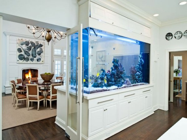 Huge-fish-tank-separating-dining-room-from-kitchen