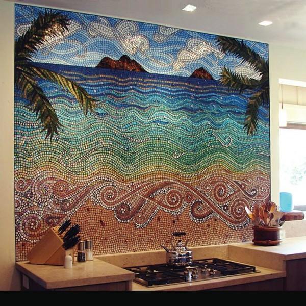 Intricate-beach-mosaic-backsplash