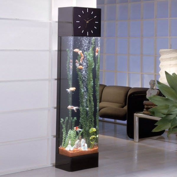 Longcase-clock-featuring-vertical-aquarium