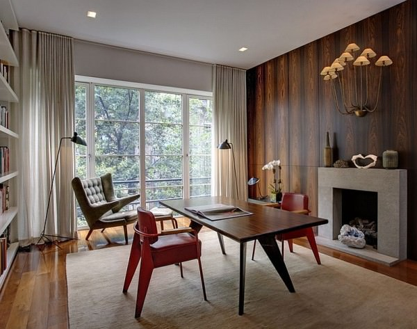 Midcentury-modern-home-office-with-smart-decor