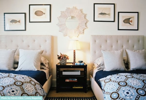 Tufted-upholstered-head-boards-on-two-twin-beds