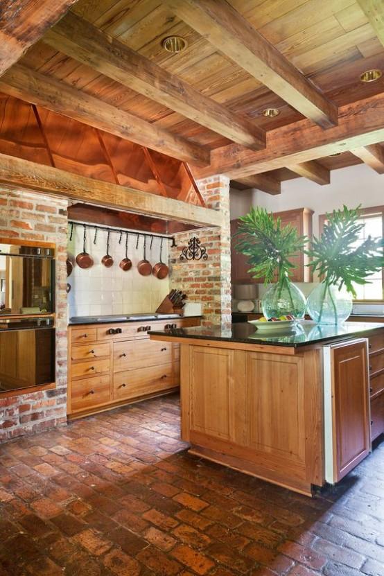 grinzi de lemn in bucatarie 18