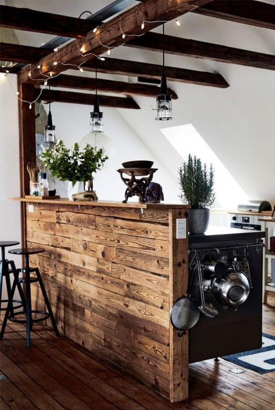 grinzi de lemn in bucatarie 23