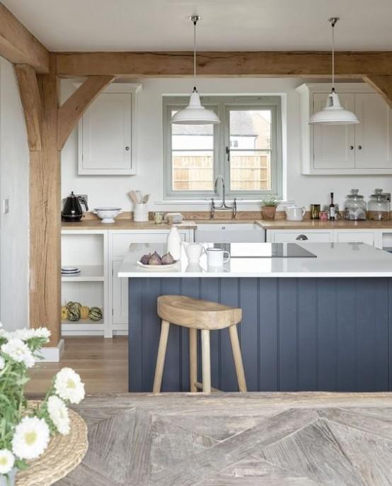 grinzi de lemn in bucatarie 24