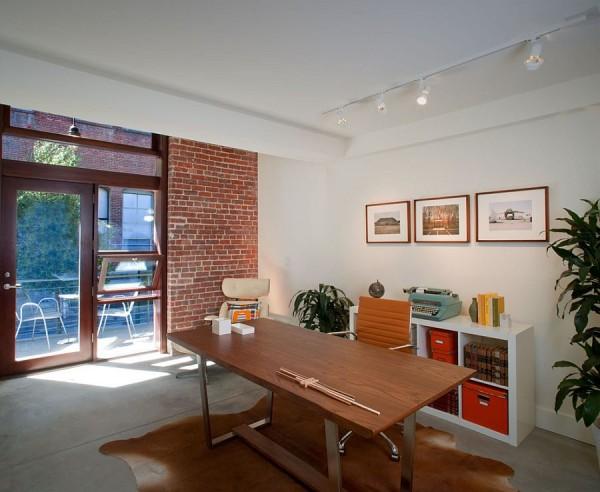 birouri de lucru cu pereti de caramida dezgoliti 13