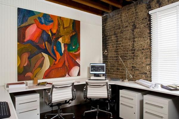 birouri de lucru cu pereti de caramida dezgoliti 14