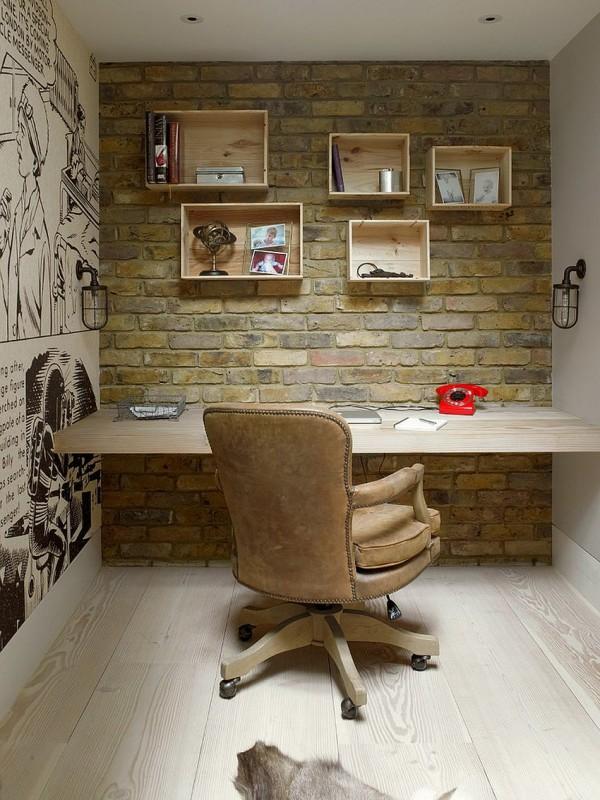 birouri de lucru cu pereti de caramida dezgoliti 17