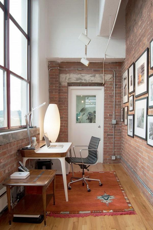 birouri de lucru cu pereti de caramida dezgoliti 19