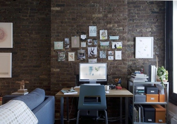 birouri de lucru cu pereti de caramida dezgoliti 22