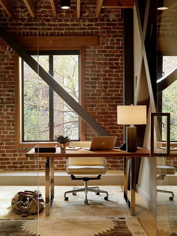 birouri de lucru cu pereti de caramida dezgoliti 7