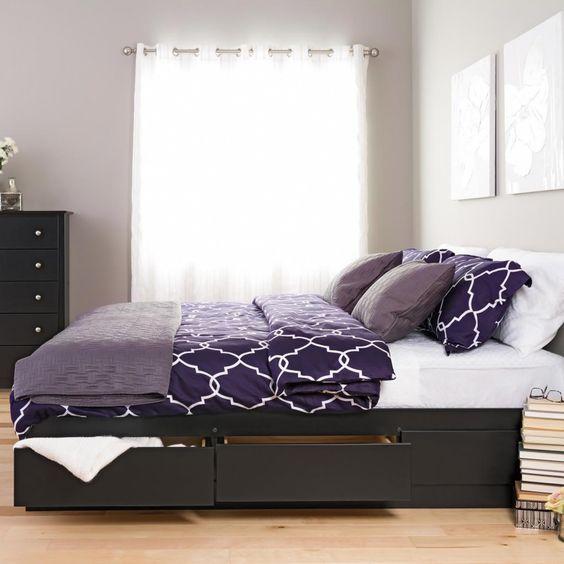 paturi cu spatiu de depozitare 3