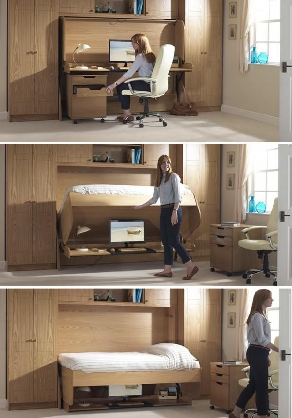 paturi cu birouri incorporate