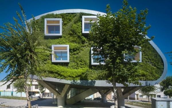 casa ecologica imbracata in verdeata