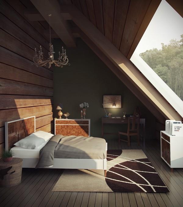 dormitoare amenajate la mansarda 13