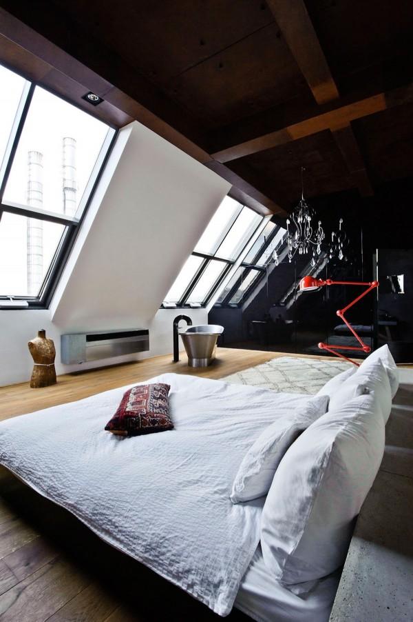dormitoare amenajate la mansarda 15