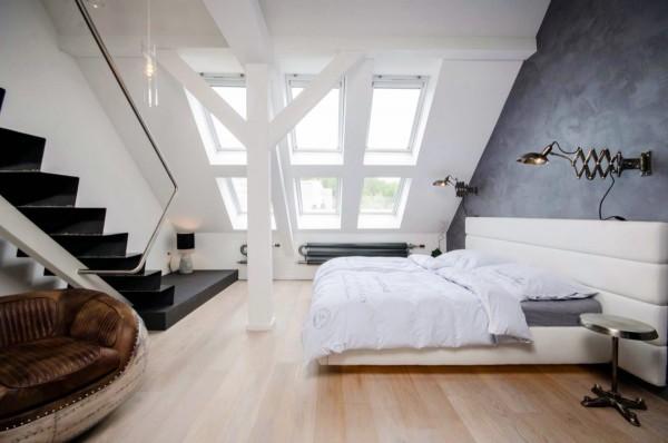 dormitoare amenajate la mansarda 16