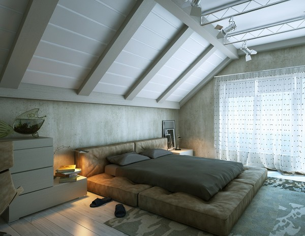 dormitoare amenajate la mansarda 17