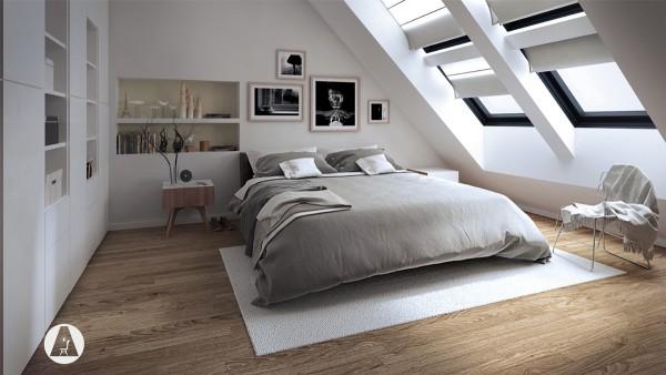 dormitoare amenajate la mansarda 4