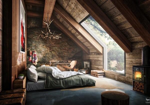 dormitoare amenajate la mansarda