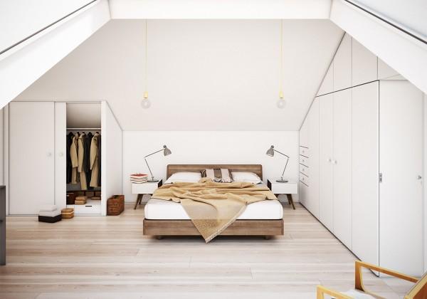 dormitoare amenajate la mansarda 8