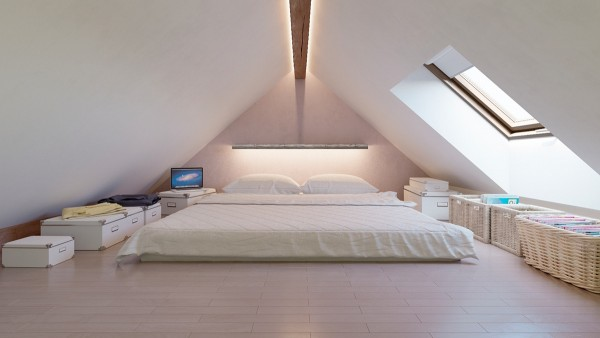 dormitoare amenajate la mansarda 9