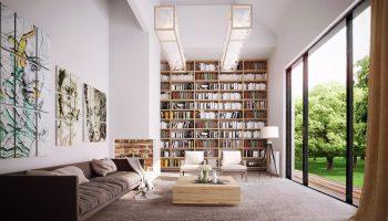 biblioteci in living 10