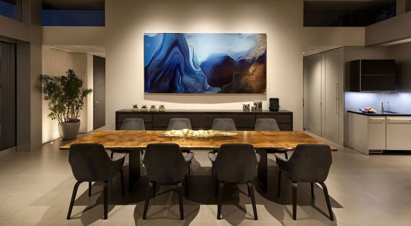 Creative-use-of-art-work-adds-color-to-the-dining-room