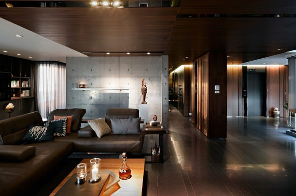 Deep-dark-living-room-with-cool-textural-contrast