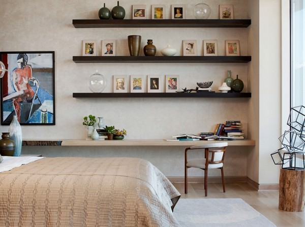 Floating-shelves-and-a-corner-workstation-in-the-bedroom