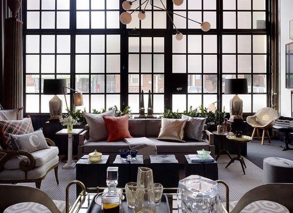 Frosted-glass-windows-add-inimitable-style-to-the-large-living-room