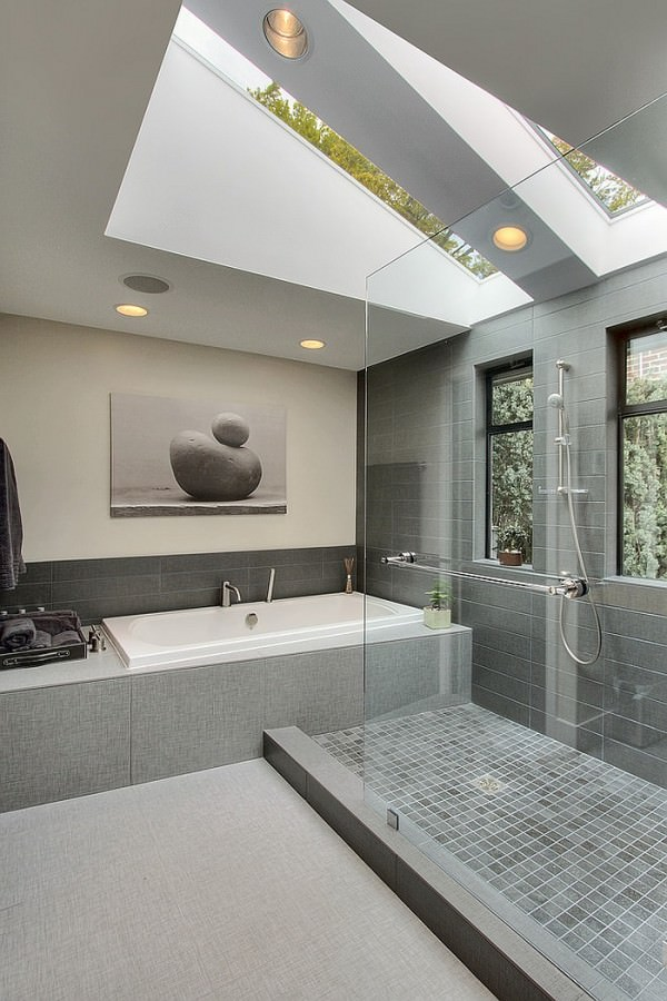 Gorgeous-contemporary-bathroom-in-gray