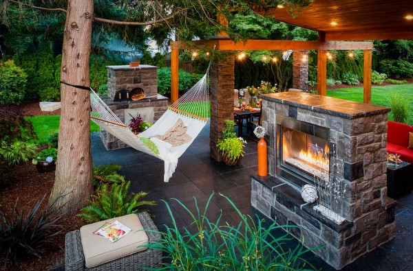 Gorgeous-outdoor-living-area-complete-with-fireplace-and-hammock
