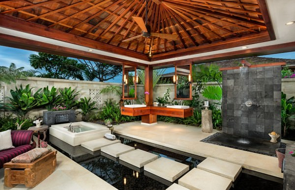 Gorgeous-tropical-outdoor-bathroom-with-spa-styled-brilliance