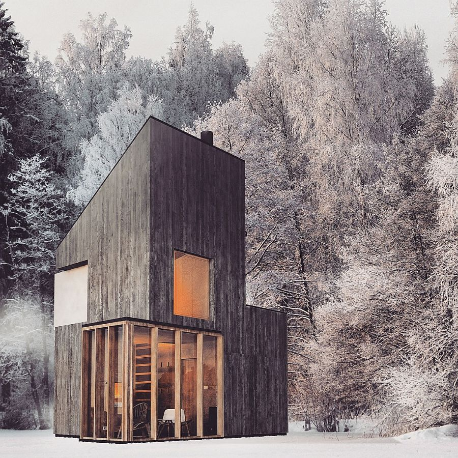Modern-wooden-shelter-and-ski-hut-with-gorgeous-minimal-design