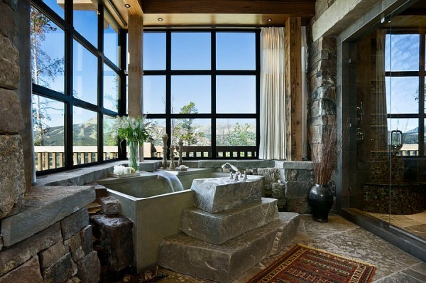 Sensational-use-of-stone-in-the-rustic-bathroom