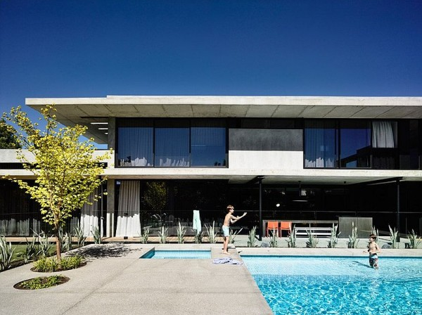 Simple-concrete-deck-reflects-the-style-of-the-home
