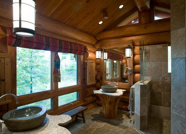 Sink-pedastal-with-cedar-tree-trunk-and-custom-granite-top