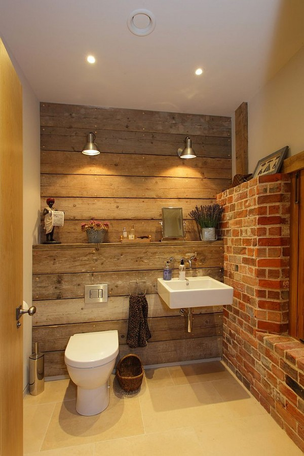Small-bathroom-with-brick-wall-and-touch-of-wooden-warmth