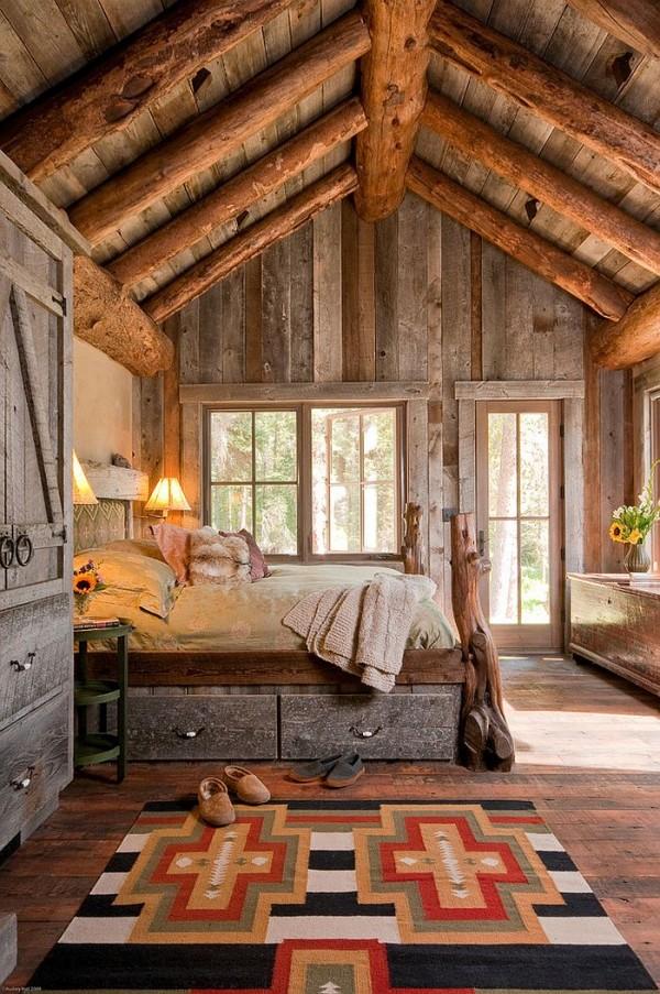 Snug-rustic-bedroom-with-custom-design
