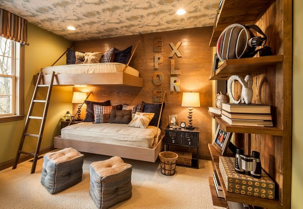 Space-saving-beds-and-brilliant-lighting-revamp-the-aura-of-the-rustic-bedroom