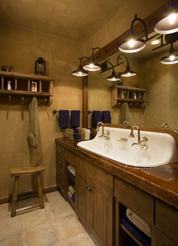 Sparkling-sink-seems-perfect-for-the-dark-rustic-bathroom